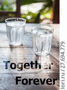 Купить «Together forever inspirational quote design», фото № 27694779, снято 19 января 2019 г. (c) PantherMedia / Фотобанк Лори