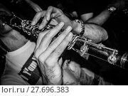 Купить «Closeup of clarinet player hands», фото № 27696383, снято 18 марта 2019 г. (c) PantherMedia / Фотобанк Лори