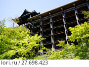 Купить « View of Kiyomizu-dera Temple on a clear blue sky in Kyoto Japan», фото № 27698423, снято 19 июля 2019 г. (c) PantherMedia / Фотобанк Лори