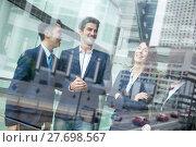 Купить «Multi Nationality of business people talk to each other», фото № 27698567, снято 19 марта 2018 г. (c) PantherMedia / Фотобанк Лори