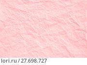 Купить «Rose Quartz crumpled paper texture», фото № 27698727, снято 26 мая 2019 г. (c) PantherMedia / Фотобанк Лори