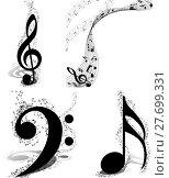 Купить «Musical Designs Set», иллюстрация № 27699331 (c) PantherMedia / Фотобанк Лори