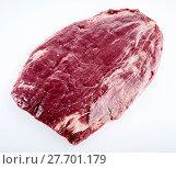 Купить «Prime cut of raw matured beef flank steak», фото № 27701179, снято 19 марта 2019 г. (c) PantherMedia / Фотобанк Лори