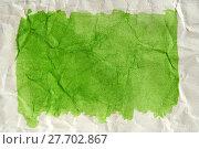 Купить «green color painted paper abstract artwork», фото № 27702867, снято 24 февраля 2019 г. (c) PantherMedia / Фотобанк Лори