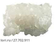 raw prehnite gemstone with white Okenite crystals. Стоковое фото, фотограф Valery Vvoennyy / PantherMedia / Фотобанк Лори