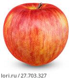 Купить «Ripe red apple isolated on white. With clipping path», фото № 27703327, снято 18 февраля 2019 г. (c) PantherMedia / Фотобанк Лори