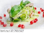 Купить «appetizing restaurant food on a white plate», фото № 27703527, снято 18 февраля 2019 г. (c) PantherMedia / Фотобанк Лори