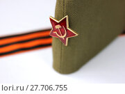 Купить «Red Army man's garrison cap», фото № 27706755, снято 23 мая 2019 г. (c) PantherMedia / Фотобанк Лори
