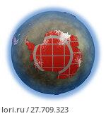 Купить «Antarctica on brick wall Earth», фото № 27709323, снято 21 марта 2019 г. (c) PantherMedia / Фотобанк Лори