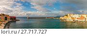 Купить «Panorama of old harbour, Chania, Crete, Greece», фото № 27717727, снято 17 января 2019 г. (c) PantherMedia / Фотобанк Лори