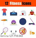 Купить «Flat design fitness icon set », иллюстрация № 27718043 (c) PantherMedia / Фотобанк Лори