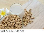 Купить «Fresh Soy milk (Soya milk) in a glass and soybean seeds», фото № 27720799, снято 21 февраля 2018 г. (c) PantherMedia / Фотобанк Лори