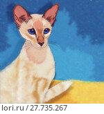 Купить «Oriental Shorthair Cat Illustration», иллюстрация № 27735267 (c) PantherMedia / Фотобанк Лори
