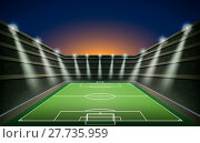 Купить «Soccer Stadium with spot light. vector», иллюстрация № 27735959 (c) PantherMedia / Фотобанк Лори