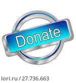 Купить «Donate Button», фото № 27736663, снято 17 ноября 2018 г. (c) PantherMedia / Фотобанк Лори