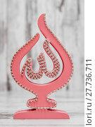 Купить «Pink Religious Statuette with the Name of Allah», фото № 27736711, снято 22 апреля 2019 г. (c) PantherMedia / Фотобанк Лори