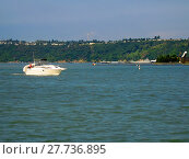 Купить «A photograph of a motorized boat.», фото № 27736895, снято 22 мая 2018 г. (c) PantherMedia / Фотобанк Лори