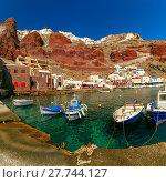Купить «Port Amoudi of Oia or Ia, Santorini, Greece», фото № 27744127, снято 17 января 2019 г. (c) PantherMedia / Фотобанк Лори