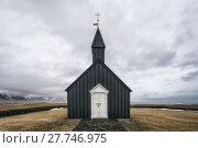 Купить «Church in Búðir on Snæfellsnes peninsula, western Iceland», фото № 27746975, снято 20 января 2019 г. (c) PantherMedia / Фотобанк Лори