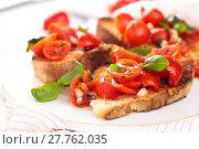 Купить «Italian food. Bruschetta.», фото № 27762035, снято 14 декабря 2018 г. (c) PantherMedia / Фотобанк Лори