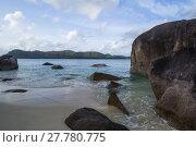 Купить «seychelles - praslin island at anse boudin,opposite the island curieuse», фото № 27780775, снято 16 июня 2019 г. (c) PantherMedia / Фотобанк Лори