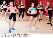 Купить «Active females dancing excited posing», фото № 27784987, снято 31 мая 2017 г. (c) Яков Филимонов / Фотобанк Лори