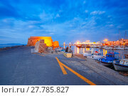 Купить «Night old harbour of Heraklion, Crete, Greece», фото № 27785827, снято 17 января 2019 г. (c) PantherMedia / Фотобанк Лори