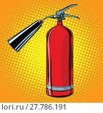 Купить «realistic red fire extinguisher pop art», фото № 27786191, снято 21 мая 2019 г. (c) PantherMedia / Фотобанк Лори
