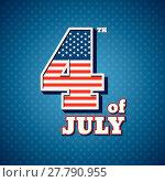 Купить «independence day 4 th july of mechanical scoreboard. happy independence day.», иллюстрация № 27790955 (c) PantherMedia / Фотобанк Лори