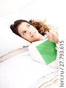 Купить «Reading a Book in Bed.», фото № 27793615, снято 20 февраля 2019 г. (c) PantherMedia / Фотобанк Лори