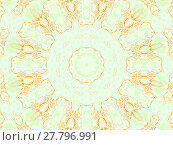 Купить «Abstract geometric seamless background. Concentric circle ornament in orange, peach color, apricot color, beige and pastel green, delicate and dreamy.», фото № 27796991, снято 22 июля 2018 г. (c) PantherMedia / Фотобанк Лори