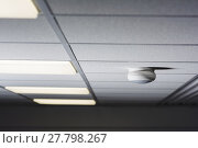 Купить «detector mounted on the ceiling», фото № 27798267, снято 15 августа 2018 г. (c) PantherMedia / Фотобанк Лори