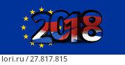 Купить «europe russia 2018 bold font 3d illustration», фото № 27817815, снято 20 августа 2019 г. (c) PantherMedia / Фотобанк Лори