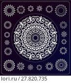 Купить «set of mandala illustration», иллюстрация № 27820735 (c) PantherMedia / Фотобанк Лори