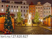 Купить «Cristmas Old Town square in Prague, Czech Republic», фото № 27820827, снято 15 ноября 2018 г. (c) PantherMedia / Фотобанк Лори
