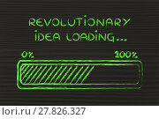 Купить «revolutionary idea loading, progress bar illustration», фото № 27826327, снято 21 октября 2018 г. (c) PantherMedia / Фотобанк Лори