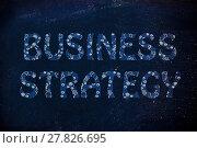 Купить «business strategy writing with glowing gearwheels pattern», фото № 27826695, снято 20 августа 2018 г. (c) PantherMedia / Фотобанк Лори