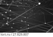 Купить «Abstract polygonal space low poly dark background, 3d rendering», фото № 27829807, снято 27 июня 2019 г. (c) PantherMedia / Фотобанк Лори