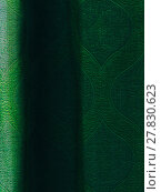 Купить «Vertical vivid vibrant green curtain drapery background backdrop», фото № 27830623, снято 17 августа 2018 г. (c) PantherMedia / Фотобанк Лори