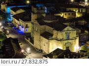 Купить «Night Stilo village, Calabria, Italy.», фото № 27832875, снято 10 июня 2017 г. (c) Юрий Брыкайло / Фотобанк Лори