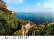 Купить «Cefalu coast view Sicily, Italy», фото № 27833627, снято 24 января 2020 г. (c) Юрий Брыкайло / Фотобанк Лори