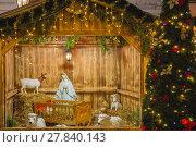 Купить «Nativity scene with Holy family in Prague, Czechia», фото № 27840143, снято 15 ноября 2018 г. (c) PantherMedia / Фотобанк Лори