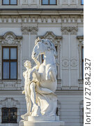 Купить «Statues at Belvedere Palace in summer, Vienna, Austria», фото № 27842327, снято 19 ноября 2018 г. (c) PantherMedia / Фотобанк Лори