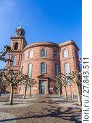 Купить «Paulskirche, famous Church in Frankfurt ( Germany)», фото № 27843511, снято 4 июля 2020 г. (c) PantherMedia / Фотобанк Лори