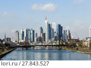 Купить «Summer view of the financial district in Frankfurt», фото № 27843527, снято 19 ноября 2018 г. (c) PantherMedia / Фотобанк Лори