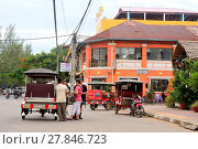 Купить «Colonial buildings in a street of Kampot, Cambodia.», фото № 27846723, снято 6 июля 2017 г. (c) age Fotostock / Фотобанк Лори