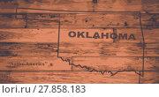 Купить «Oklahoma Map Brand», фото № 27858183, снято 16 января 2019 г. (c) PantherMedia / Фотобанк Лори