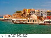 Купить «Old harbour, Chania, Crete, Greece», фото № 27862327, снято 17 января 2019 г. (c) PantherMedia / Фотобанк Лори