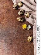 Купить «Quail eggs», фото № 27865007, снято 16 июля 2019 г. (c) PantherMedia / Фотобанк Лори
