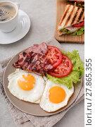 Купить «Delicious breakfast on the table», фото № 27865355, снято 21 сентября 2019 г. (c) PantherMedia / Фотобанк Лори